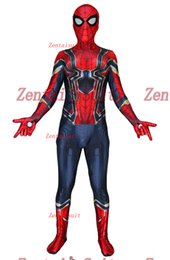 $enCountryForm.capitalKeyWord Australia - Spider-Man Costume Iron Spiderman MCU Version 3 Superhero Costumes Spandex Halloween Superhero Cosplay Suit For Adult Kids Free Shipping