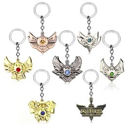 Discount classic fans - Game LoL League Keychain hero League Rank Keychain Legends Riven Leona Soraka Irelia Keyring Holder Men Chaveiro For Fan
