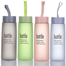 $enCountryForm.capitalKeyWord Australia - Frosted Plastic Unbreakable Portable Leak-proof Sports Travel Water Bottle Cup Cycling Camping