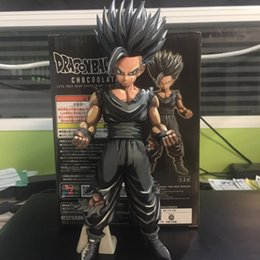 Goku Hot Toy Australia - Dragon Ball Chocolate DXF De Super Warriors Goku Zwart Super Saiyan Vegetto Action Figure Toys Doll New Arrvial Hot Sale Free Shipping