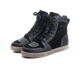 Moto Shoes UK - Outdoor waterproof riding boots men's Vintage motorcycle shoes corium motocross shoes moto protective shoes