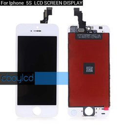 White Touch Screen Assembly Australia - Top quality LCD For iPhone 5S Grade A +++ White LCD Display Touch Screen Digitizer Full Assembly Replacment & Free DHL Shipping