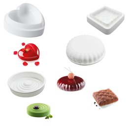3d heart silicone molds online shopping - Cake Decorating Mold D Silicone Molds Baking Tools For Heart Round Cakes Chocolate Brownie Mousse Make Dessert Pan