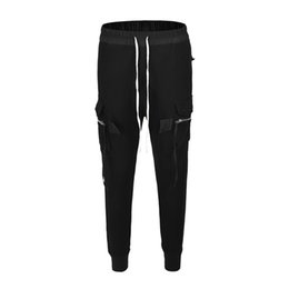 Black Blocks Australia - Hip Hop Block Casual Joggers Sweatpants Trousers Male Streetwear black pants