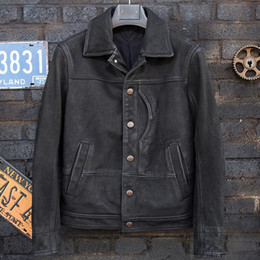 $enCountryForm.capitalKeyWord Australia - Casual Mens Real Leather Jackets and Coats Motorcycle Jackets Man Real Leather Biker Male Overcoats Plus Size XXXL A562