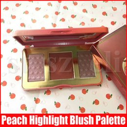 full makeup palette eyeshadow blush powder UK - Face Makeup 3 Colors Blush Blusher Peach Glow Infused Powder Long-lasting Highlighter Bronzers Eyeshadow Pressed Palette
