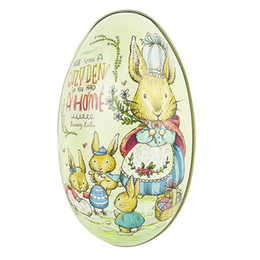 Shape Boxes Australia - Cute Eggs Shape Candy Boxes Easter Party Candy Boxes Featured Iron Box Gift Party Gift For Children 2019 New Arrive