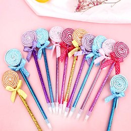 cute lollipop pens 2019 - 36 Pcs lot Lollipop Pen Souvenirs Birthday Party Favors Decorations Kids Supply Baby Shower Cute Gift Christmas New Year