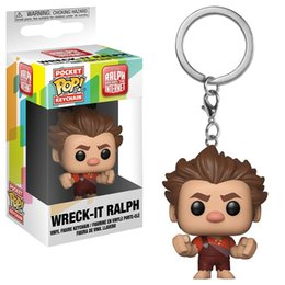 Wholesale Nice gift Funko Pocket POP Keychain Ralph Breaks the Internet Vinyl Figure Keyring with Box Toy Gift Good Quality