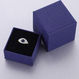 Rose Ring Austria Australia - Designer EVIL EYE RING for women gift famous design rose gold plating Fashion Rings with Austria Zircon plate with box