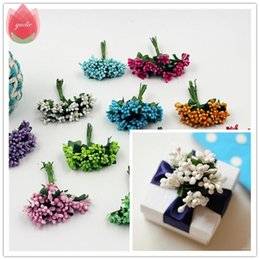 silver artificial wedding flowers NZ - 2017 12pcs Berry Artificial Stamen Handmade Flower For Wedding Home Decoration Pistil DIY Scrapbooking Garland Craft Fake Flower C18112601