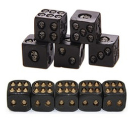 Dice Children Game Australia - 5Pcs set Creative Death Skull Bones Dice Square Bar Tool Six Sided Skeleton Dice Club Party Game Toys Resin Dice for Children Adults