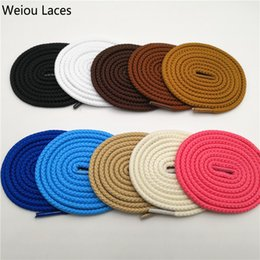 $enCountryForm.capitalKeyWord Australia - Weiou Solid Color Round Cord Shoe Laces Unisex Shoelaces Shoe String For Casual Sneakers Canvas Shoes Martin Boots Laces in 120cm