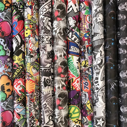 Body Stickers For Truck Australia - Skull Cartoon Sticker Bomb Wrap Camouflage Vinyl Sticker Graffiti Bomb Car Film Foil For Truck Car Hood Roof Motors Wrapping Decal