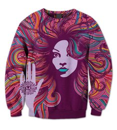 printing sublimation UK - REAL American SIZE Third Eye Peace Beauty 3D Sublimation Print Crew neck Sweatshirt Plus size 3XL 4XL 5XL 6XL