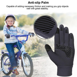 lycra glove Australia - Fashion-Vbiger Kids Winter Gloves Anti-skid Touch Screen Gloves Soft Outdoor Sports Warm with Reflective Printing Silicone Strip