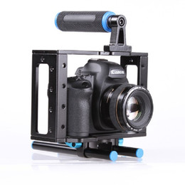 15mm rod camera Australia - DSLR Camera Cage Support Stabilizer Rig With 15mm Rod Rig for Canon 500D 550D 600D 650D 700D 750D 760D 800D 77D Nikon Cameras