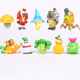 figures UK - Plants vs Zombies 1 2 generation Action Figures 10pcs set PVC Zombies Characters Collection Toy For Children M019