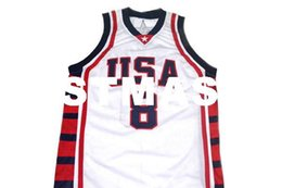 0265db398 wholesale Carmelo Anthony  8 1992 Olympic Basketball Jersey White Stitched  Custom any number name MEN WOMEN YOUTH BASKETBALL JERSEYS