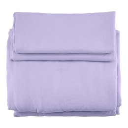 $enCountryForm.capitalKeyWord UK - 3pcs   set Microfiber Light Purple Solid Color Duvet Cover Pillow Cases Bedding Set