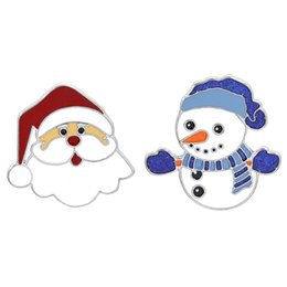 $enCountryForm.capitalKeyWord Australia - New Cute Merry Christmas Snowman Santa Brooch Pin For New Year Christmas Alloy Brooch Jewelry Best Gift For Friends Family