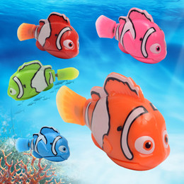 Electronic Pet Animal Toys Australia - Juxu Robo Fish Water Activated Battery Powered Robofish kids Clownfish Bath Toys children Robotic Fish Electronic pet WCW395
