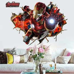 Avengers Wall Decor Australia - retail 50*90cm 3d wallpaper avengers wall posters for Children room Raytheon Home Decor wall stickers Decals Nursery Wall Art decorative