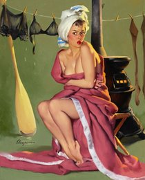 art painting nude girls Australia - Gil Elvgren Pin Up Girls 007 Home Decor Handcrafts  HD Print Oil Painting On Canvas Wall Art Canvas Pictures 200214