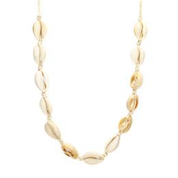Discount white pearl beach Beach Necklace Natural Shell Beads Handmade Hawaiian Bikini Beach Necklace Adjustable Girl Ms