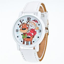 EldErly watchEs online shopping - TTLIFE New Christmas Ornaments Elderly Pattern Leather Band Analog Quartz Vogue Watches Xmas Decoration Navidad Envio SH190916