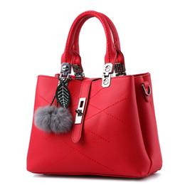 Jacquard Knit Fabric Canada - Designer Handbags brand women hairball ornaments totes solid sequined handbag hotsale party purse ladies messenger crossbody shoulder bags