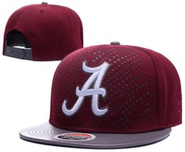 China Alabama Crimson Tide Snapbacks NCAA College Football hats Adjustable Hat new Fur cap american football Red suppliers