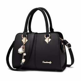 simple hand embroidery UK - Designer-2019 New Women Handbags Tassel PU Leather Totes Top-handle Embroidery Shoulder Crossbody Bag Lady Simple Hand Bag