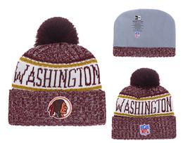 Knitted Cloche Australia - Men's Washington Redskins New Burgundy 2018 Sideline Cold Weather Official Sport Knit Hat 02