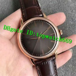 luxury brown leather watch Australia - ND New Luxury 18.2270.6150 01.C498 Watch 18K Rose Gold Case Chocolate Dial Brown Leather Strap Swiss 6150 Automatic 28800bph Mens Watch