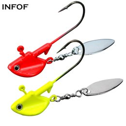 Led spinners online shopping - Fishing Jigs with Spoons Spinner Willow Blades6g g g g Lead Fish Head Fishing Jigs for Bass Saltwater Freshwater