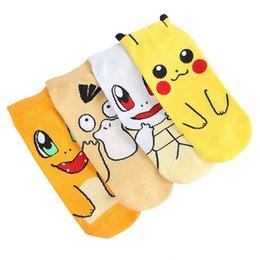 $enCountryForm.capitalKeyWord Australia - Hot sale women pikachu socks summer cartoon cotton short sock ladies Anime cosplay socks free size