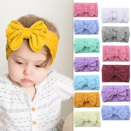 toddler hair wraps NZ - 27 colors Baby Headband Newborn Big BowKnot Hair Accessories Turban Knotted cotton Head Wrap Toddler Children Hair Accessories
