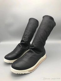 $enCountryForm.capitalKeyWord Australia - Stretch cotton sheepskin rubber PU shock absorption soles boots Italy imported tree cream leather strip shock insoles high-end fashion boot