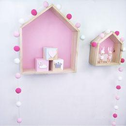 $enCountryForm.capitalKeyWord Australia - Handmade DIY 2.5M Colorful Hair Ball Decoration Banner Baby Room Decor Bedding Bumpers Baby Kids Tent Accessory Wall Hanging