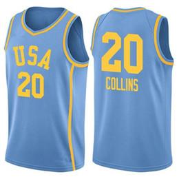 2496fbdfa23 Usa Basketball Jerseys UK - #20 John Collins team usa Men's Embroidery  Stitched Basketball Jersey