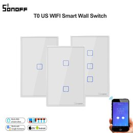 $enCountryForm.capitalKeyWord Australia - Sonoff T0 US 1 2 3gang WiFi Smart Wall Touch Light Switch Wireless Remote Light Smart Home Controller Support Alexa Google Home