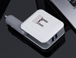 $enCountryForm.capitalKeyWord NZ - 2in1 Compact Wall Charger Car Converter Dual USB Port 5V 2.1A Fast Charging Folding Home Travel Charger AC   DC Power Adapter