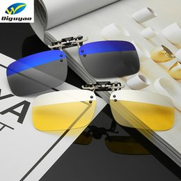 clip flip sunglasses 2019 - Unisex Fishing Anti-UV Eyewear Polarized Day Anti-glare Night Vision Clips Easy Clip-on Sunglasses Flip-up Lens Driving