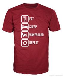 $enCountryForm.capitalKeyWord NZ - Eat Sleep Wakeboard Repeat Funny Water Sport Jet Ski T-Shirt Tee Shirt Men Male Summer Custom Short Sleeve Big Size Men's Tee Shirts