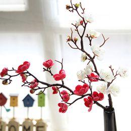 $enCountryForm.capitalKeyWord Australia - Artificial Silk Flowers Japan Plum Cherry Blossoms Fake Flowers Flores Sakura Tree Branches Wedding Home Room Decoration A6940