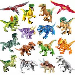 Jurassic World Dinosaur Building Australia - Jurassic Dinosaur Velociraptor T-Rex Pterosaurs Tyrannosaurus Rex World Park Building Block Toy YG77001