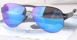 Screw Mirror NZ - Luxury- HOT sale new IC!berlin sunglasses ultralight frame without screws ruckblick pilot frame men brand designer sunglasses