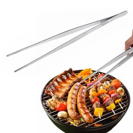 $enCountryForm.capitalKeyWord Australia - 1PC Barbecue Tongs Food Tongs Food Clip Kitchen With Stainless Steel Tweezers Plastic Clip Barbecue Buffet Restaurant Tool A20