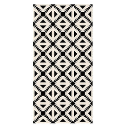 $enCountryForm.capitalKeyWord UK - Black White Geometric Pattern Vinyl Sticker Toilet Bathroom Kitchen Living Room Bedroom Floor Decor Sticker 3D Mural Non Slip Wallpaper